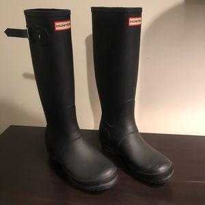 Matte Black Hunter Rainboots